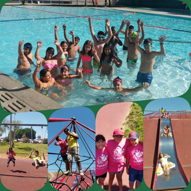 collage parc piscina