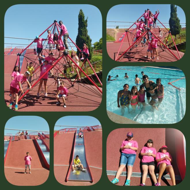 collage piscina i parc 2
